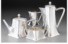 A057 4 Piece Germany Koch & Bergfeld Transitional Silver Tea and Coffee Set.1884