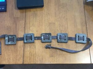 Vintage Chicago Frogmen Scuba Club Diving Belt Lead Weights 6 Lbs pounds