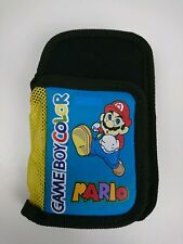 Nintendo Gameboy Colour Pouch Mario Graphic Soft Bag Year 2000 Zip Pocket