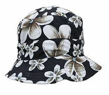 Womens Floral Sun Hat ~ Flower Bucket Hat ~ Red, Black or Brown Summer Cap
