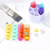 Daily Pill Box Organiser Medicine Tablet Storage Weekly Dispenser 7 Day Week HOT