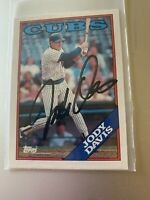 CUBS JODY DAVIS 1988 TOPPS AUTOGRAPHED 615 Signed Auto In Person Autograph
