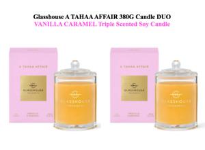 Glasshouse Tahaa Affair 2x380g Soy Candle Vanilla Caramel TripleScented FreePost