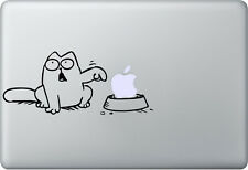 Apple MACBOOK AIR PRO + SIMON 'S CAT + Adesivo Sticker Decal SKIN + Gatto