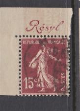 RR SEMEUSE 15c PUB RESYL 189a PUB  ANGLE CARNET ... PAS COMMUN
