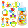 9pcs Baby's First Rattle and Teether Newborn Shaking Bell Rattles Teether Toys