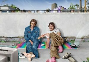 Beatles, John Lennon & Paul McCartney reunion, smoking a joint, weed, cannabis