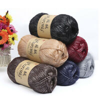 100g/Roll Silk Cotton Hand Knitting Yarn Crochet Hand Thick Wool Thread Yarn DIY