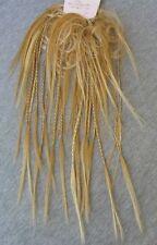 1A Haarteil - Haarband Zopfgummi mit Zöpfchen Scrunchie BLOND MIX