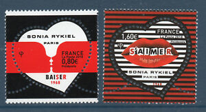 PAIRE DE TIMBRES 5198-5199 NEUF XX  - COEURS DE SONIA RYKIEL