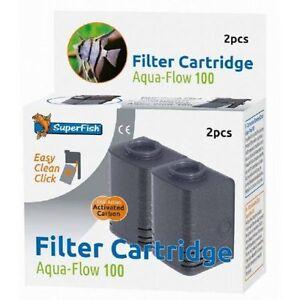 Superfish Aqua Flow 100 Easy Click Replacement Filter Cartridge (2 pcs)