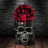 Magic Skull Glass Sculpture Statue Lightning Plasma Ball Touch Sensitive Vampire