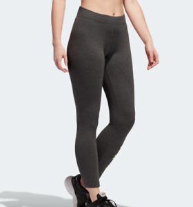 adidas Training Tights Womens New Essentials Linear Cotton Gray Small or Medium