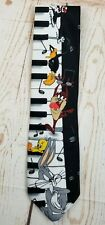 Looney Tunes Bugs Bunny Daffy Duck Taz Tweety Sylvester Piano Keyboard Necktie