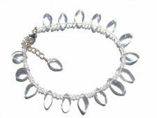 Bergkristall-Crystal Tropfen Armband 19-21,5  cm 925 Silber Nr. 3167