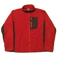 VTG 90s Nike Jacket Mens Large ACG Fleece Zip Up Red Streetwear Pockets Swoosh