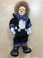 Vintage Handmade Circus Clown Decoration Toy/ Made in Germany/ 70s / Handpainted