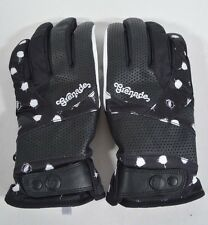 2016 NWT WOMENS GRENADE ORCA GLOVES $85 M white polka dot black sherpa lined
