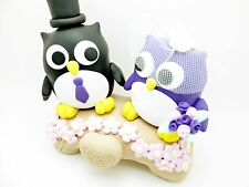 Hochzeitstortenfiguren Toppers & Foldies Attachment Wedding and Groom Owl Pair