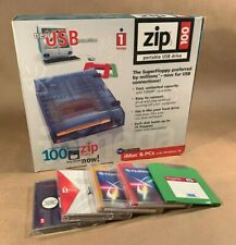 iomega Zip 100 Portable USB Drive, In Box with 5 Disks!