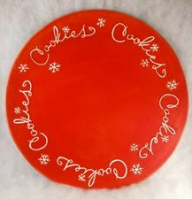 Hallmark Red Cookies large serving party tray platter plate - Christmas, Santa