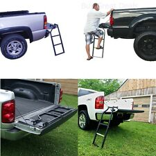 Truck Tailgate Ladder Cargo Bed Step Folding Pickup Secure Mount Loud Up Stair