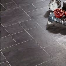 Libretto Black Slate Tile Effect Laminate Flooring 1.86 m² Pack - 8mm THICK-NEW