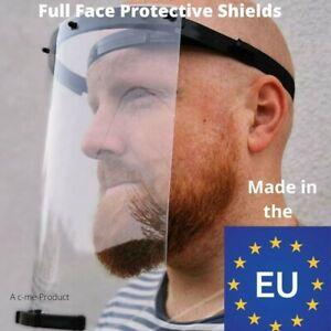 Pair of 2 x Full Face shields Visor Masks made in the EU