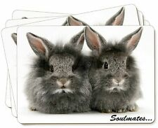 Two Silver Rabbits 'Soulmates' Picture Placemats in Gift Box, SOUL-74P