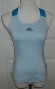 NWT Women's Adidas  Y - Tank Primeblue Tennis Top Size XS Color Easy Blue  $55