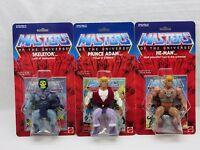 MOTU,Commemorative HE-MAN,PRINCE ADAM,SKELETOR,MOC,sealed,figure,Carded