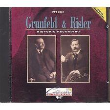 GRUNFELD & RISLER Historic recording CD 1992 ALL. PIANOTIME NEAR MINT