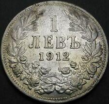 1912 - Bulgaria ( Kingdom ) - 1 ( One ) Lev Silver Coin - Nr