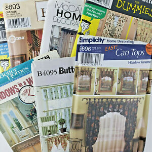 Simplicity McCall's Pattern NEW UNCUT -Curtains Panels Valance Shade Swag- Lot 7