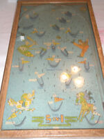 Vintage POOSH M UP BIG 5 Table Top Pinball Game