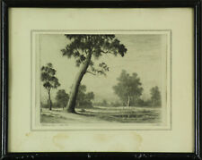"Etching by George Cope. Titled ""Evening"""