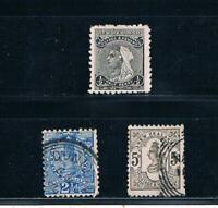 New Zealand 1891-95 QV Portraits 12x11½ - SC 67A-69 [SG 194,197,200] USED 19