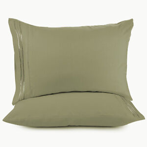 SET OF 1500 TC PILLOWCASES TWO PILLOW CASES PER SET ALL SIZES ALL COLORS