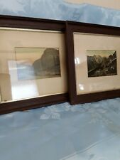 More details for rare vintage two canadian rockies framed pictures
