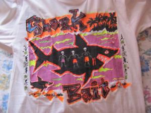 Shark Bait - Rare Vintage Neon T-Shirt 1980 - 100% Cotton, Size Xlarge