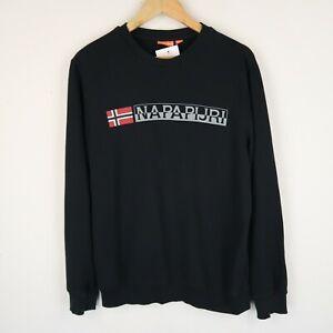 NAPAPIJRI Mens Spell Out Logo Sweatshirt Grey SZ Small (G708)