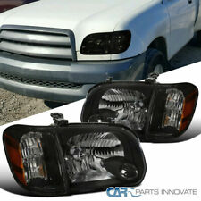For Toyota 05-06 Tundra Double Cab 05-07 Sequoia Black Headlights Signal Lamps