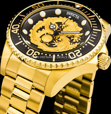 Invicta Pro Diver Dragon Automatic NH35A 24 J Exhibition Back Gold IP SS Watch !