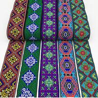 1 Yard 5cm Width Ethnic Jacquard Ribbon Trim DIY Clothes Bag Belt Sewing Craft