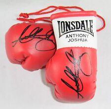 Autografiada Mini Guantes De Boxeo Anthony Joshua