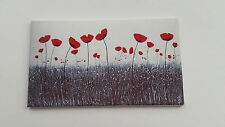 HANDMADE MINIATURE DOLLS HOUSE ACCESSORY CANVAS STYLE WALL ART PICTURE POPPY #6