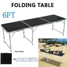 6FT Folding Table Aluminium Alloy In/Outdoor Picnic Party Dining Camp Portable