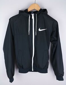 Nike Women Bomber Jacket Casual Leisure Windproof Lightweight Black size S UK8