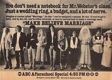 1979 TV AD~ABC AFTERSCHOOL SPECIAL~MAKE BELIEVE MARRIAGE~ALEXA KENIN~LONNY PRICE