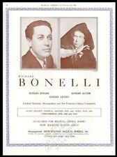 1936 Richard Bonelli photo opera recital Usa tour trade booking ad